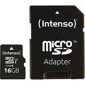 MicroSDHC-Speicherkarte 16GB - Intenso Class 10 - UHS-1 INTENSO 3423470