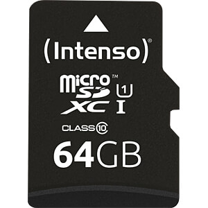 Carte microSDXC 64 Go - Intenso Classe 10, UHS-1 INTENSO 3423490