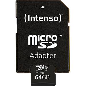 MicroSDXC-Speicherkarte 64GB - Intenso Class 10 - UHS-1 INTENSO 3423490
