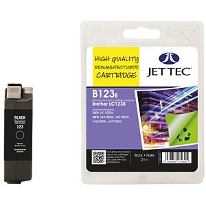 Ink - Brother - black - LC123 - refill JET TEC B123B