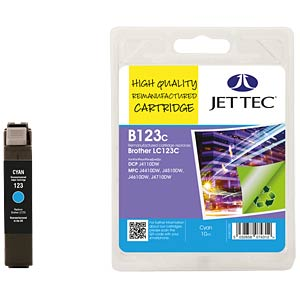 Ink - Brother - cyan - LC123 - refill JET TEC B123C
