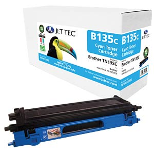 Toner - Brother - cyan - TN135C - rebuilt JET TEC B135C