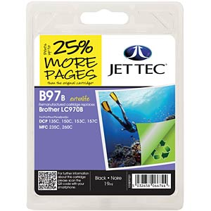 Ink - Brother - black - LC970 - refill JET TEC B97B