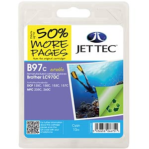 Ink - Brother - cyan - LC970 - refill JET TEC B97C
