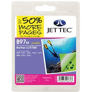 Ink - Brother - magenta - LC970 - refill JET TEC B97M