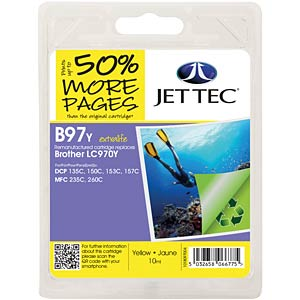 Tinte - Brother - gelb - LC970 - refill JET TEC B97Y