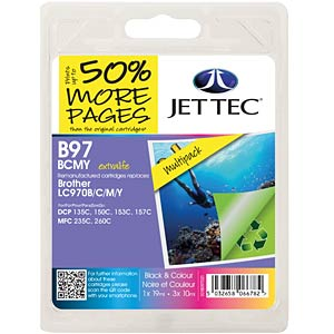 Tinte - Brother - MP - LC970 - refill JET TEC B97B/C/M/Y