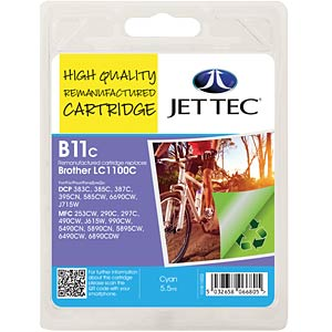 Ink - Brother - cyan - LC1100 - refill JET TEC B11C