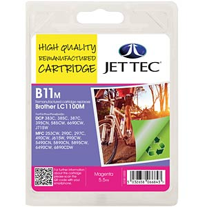 Ink - Brother - magenta - LC1100 - refill JET TEC B11M
