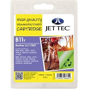 Ink - Brother - yellow - LC1100 - refill JET TEC B11Y