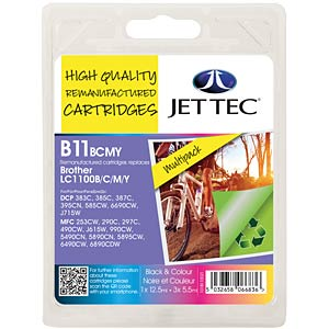 Tinte - Brother - MP - LC1100 - refill JET TEC B11B/C/M/Y