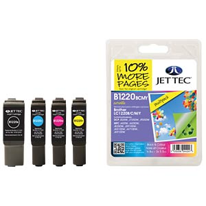 Tinte - Brother - MP - LC1220 - refill JET TEC B1220B/C/M/Y