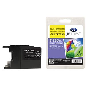 Ink - Brother - black - LC1280XL - refill JET TEC B1280B