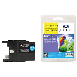 Ink - Brother - cyan - LC1280XL - refill JET TEC B1280C