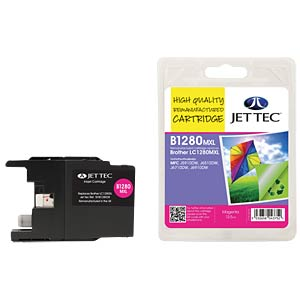 Ink - Brother - magenta - LC1280XL - refill JET TEC B1280M