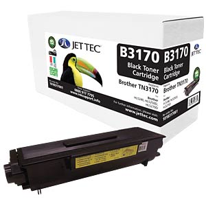Toner - Brother - schwarz - TN3170 - rebuilt JET TEC B3170