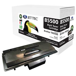 Toner - Brother - schwarz - TN5500 - rebuilt JET TEC B5500