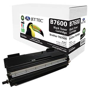 Toner - Brother - schwarz - TN7600 - rebuilt JET TEC B7600