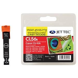 Tinte, schwarz - CLI-526 - refill JET TEC CL56B