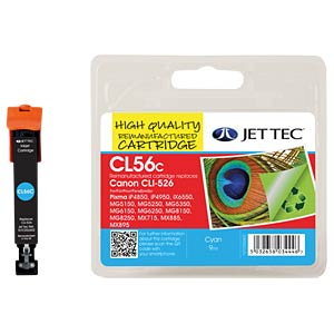 Ink - Canon - cyan - CLI-526 - refill JET TEC CL56C