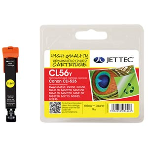 Ink - Canon - yellow - CLI-526 - refill JET TEC CL56Y