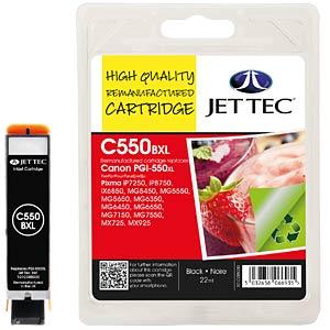 Tinte, schwarz - PGI-550XL - refill JET TEC CP50B