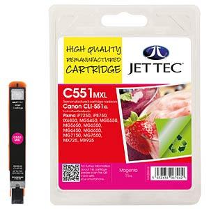Tinte, magenta - CLI-551XL - refill JET TEC CL51M