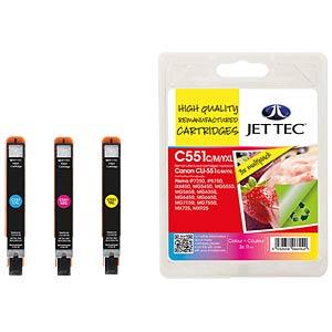 Ink - Canon - MP - CLI-551XL - refill JET TEC CL51 C/M/Y