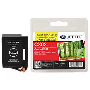 Tinte, schwarz - BX-2 - refill JET TEC CX02
