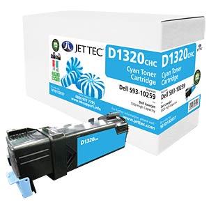 Toner - Dell - cyan - 10259 - rebuilt JET TEC D1320CHC