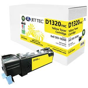 Toner - Dell - gelb - 10260 - rebuilt JET TEC D1320YHC