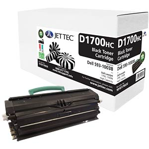 Toner - Dell - black - 10038 - compatible JET TEC D1700HC
