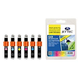 Ink - Epson - MP - T048x - refill JET TEC E48B/C/M/Y/LC/LM