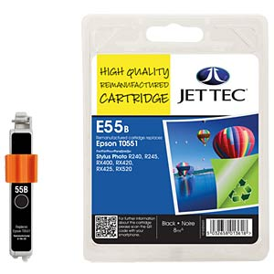 Tinte - Epson - schwarz - T0551 - refill JET TEC E55B