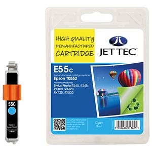 Tinte - Epson - cyan - T0552 - refill JET TEC E55C