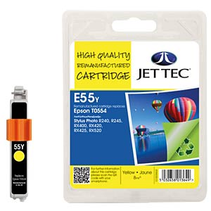Ink - Epson - yellow - T0554 - refill JET TEC E55Y