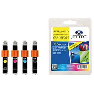 Ink - Epson - MP - T055x - refill JET TEC E55B/C/M/Y