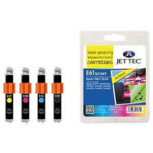 Tinte - Epson - MP - T061x - refill JET TEC E61B/C/M/Y