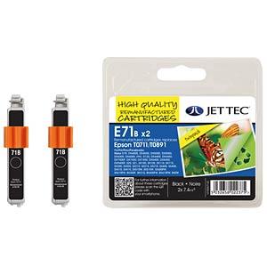 Tinte - Epson - schwarz -  2x T0711/T0891 - refill JET TEC E71B X 2