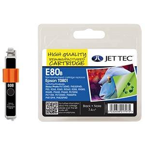 Tinte - Epson - schwarz - T0801 - refill JET TEC E80B