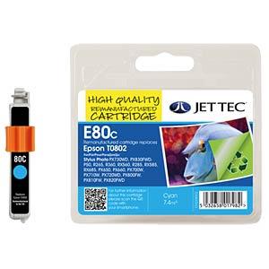 Ink - Epson - cyan - T0802 - refill JET TEC E80C