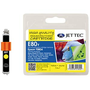 Ink - Epson - yellow - T0804 - refill JET TEC E80Y