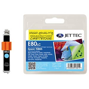 Tinte - Epson - photocyan - T0805 - refill JET TEC E80LC
