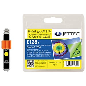 Ink - Epson - yellow - T1284 - refill JET TEC E128Y