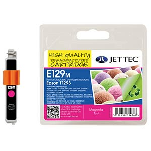 Ink - Epson - magenta - T1293 - refill JET TEC E129M