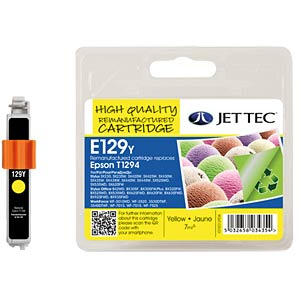 Ink - Epson - yellow - T1294 - refill JET TEC E129Y
