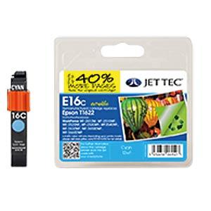 Ink - Epson - cyan - T1622 - refill JET TEC E16C