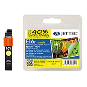Ink - Epson - yellow - T1624 - refill JET TEC E16Y