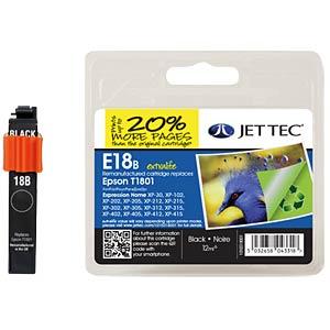 Ink - Epson - black - T1801 - refill JET TEC E18B