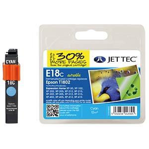 Ink - Epson - cyan - T1802 - refill JET TEC E18C